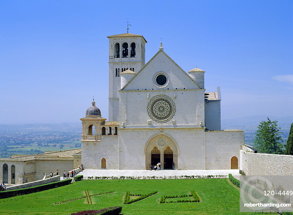 The Upper Church (1182-1226), Basilica of Saint Francis, Assisi, Umbria, Italy