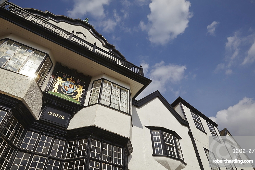 Mol's, a Medieval building on Cathedral Close, Exeter, Devon, England, United Kingdom, Europe