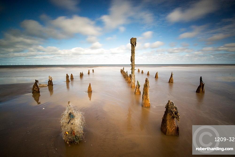 Spurn Point, Spurn Head, Groynes, Yorkshire, England, United Kingdom, Europe
