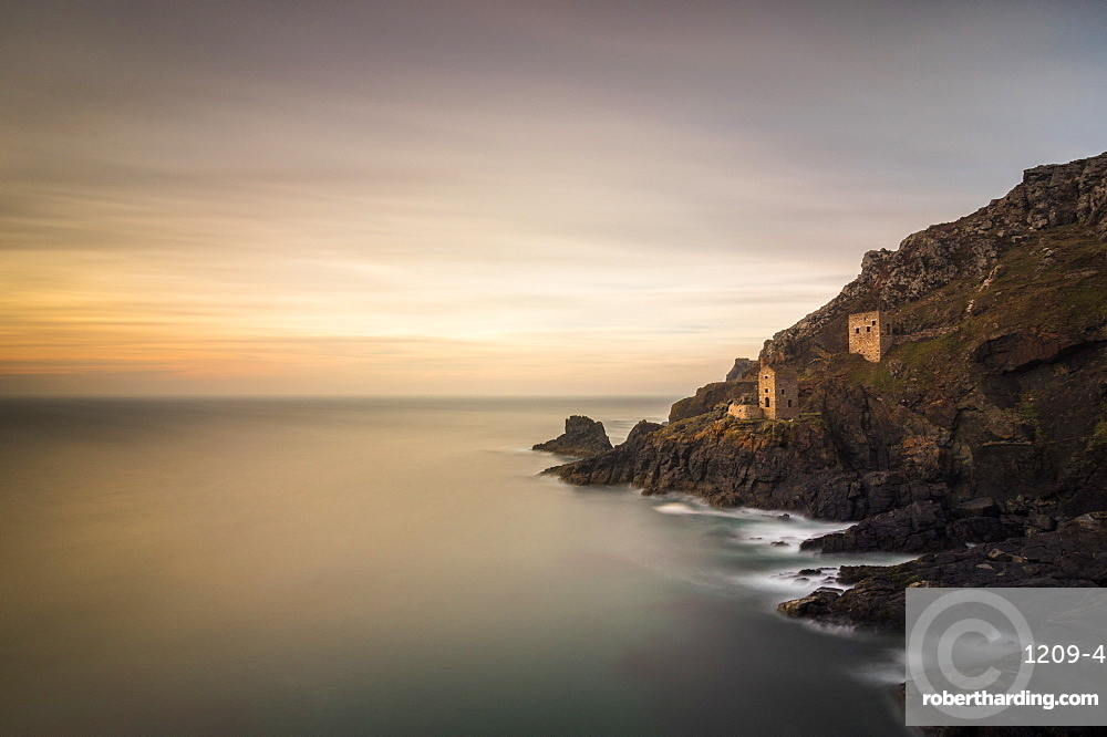 Crown Tin Mines, Botallack, UNESCO World Heritage Site, Cornwall, England, United Kingdom, Europe
