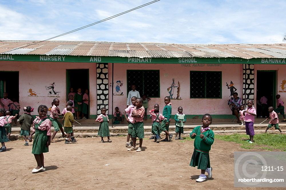Primary school playtime, Ndop District, Cameroon, Africa