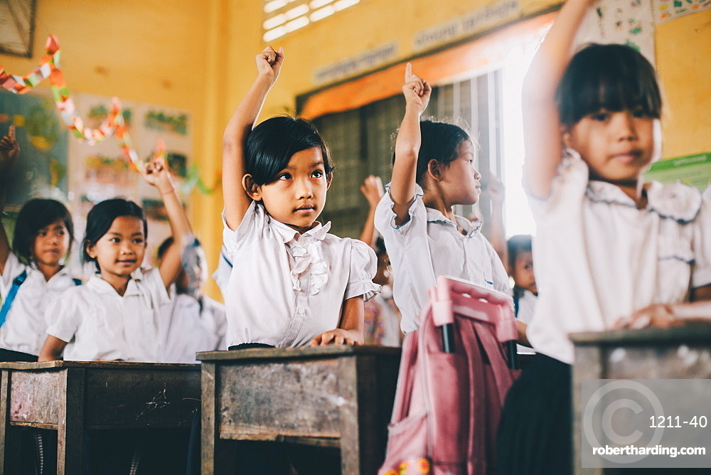 Primary school, Pong Teuk, Cambodia, Indochina, Southeast Asia, Asia