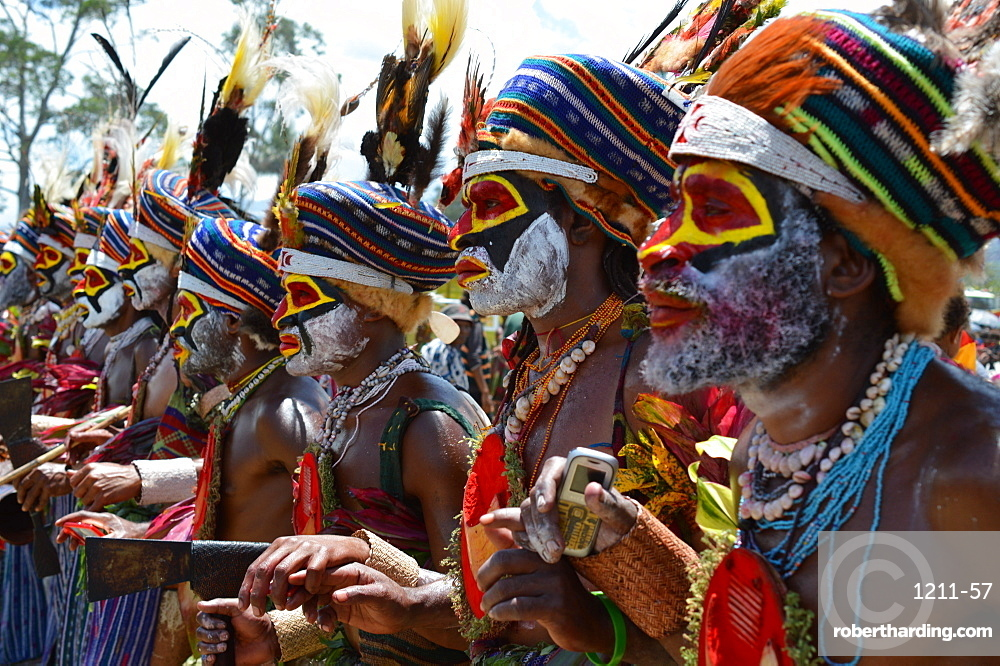 Highlands singsing performers at the Goroka show in Papua New Guinea, Pacific