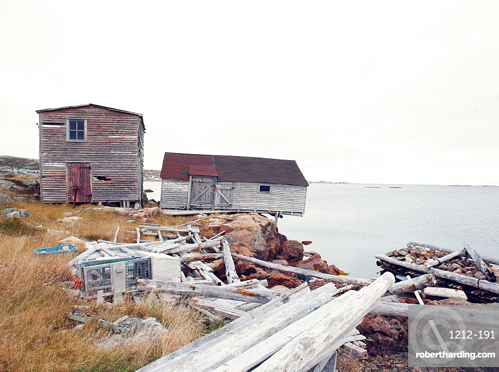 Fishing huts, Fogo Island, Newfoundland, Canada, North America