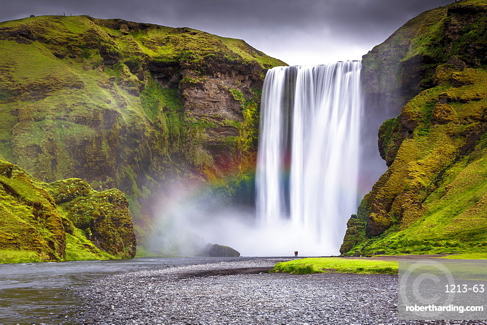 Skogafoss waterfall situated on the Skoga River in the South Region, Iceland, Polar Regions