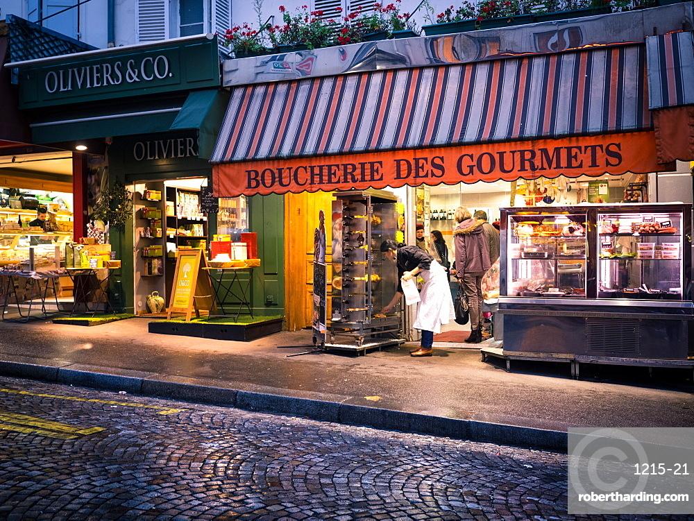 Butcher in Montmartre, Paris, France, Europe