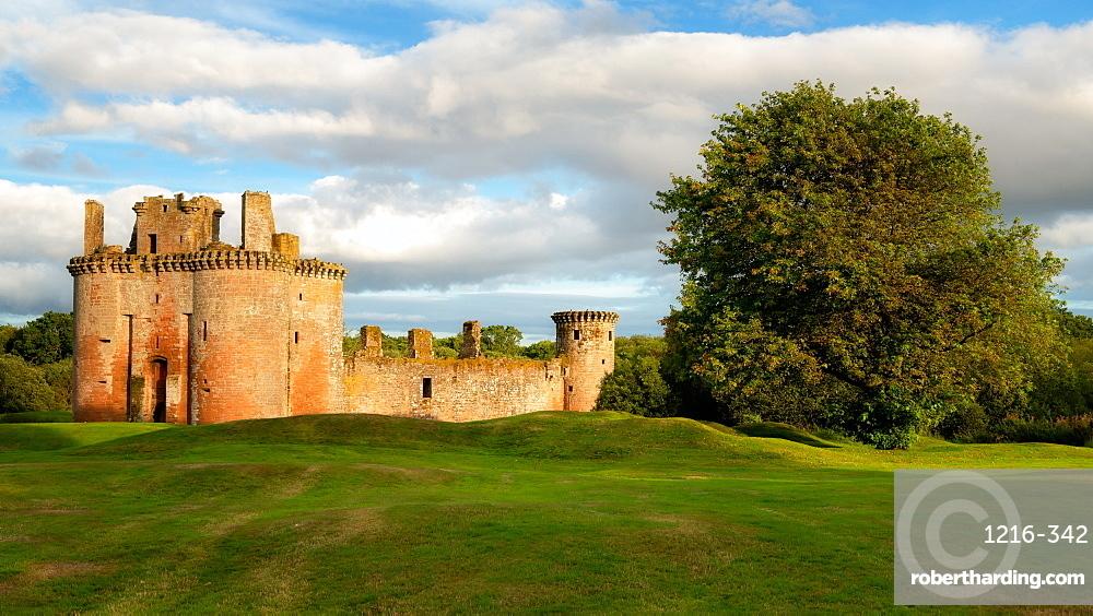 Caerlaverock Castle, Dumfries and Galloway, Scotland, United Kingdom, Europe