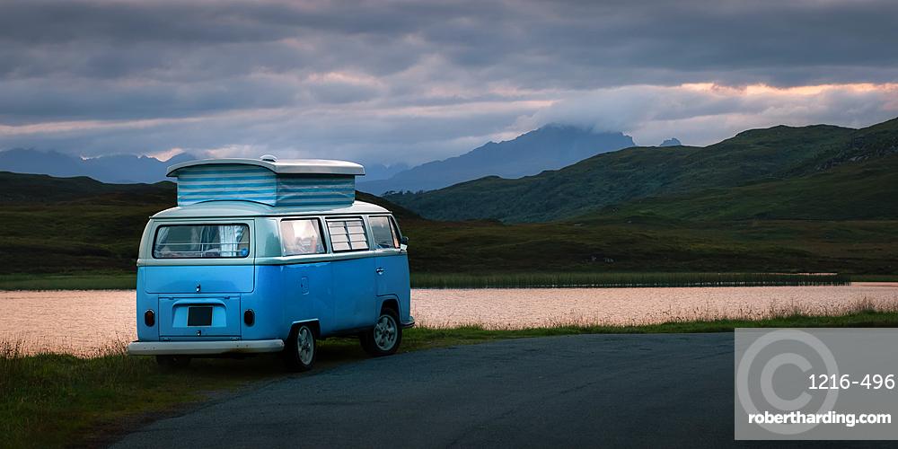 Camper van, Isle of Skye, Inner Hebrides, Scotland, United Kingdom, Europe
