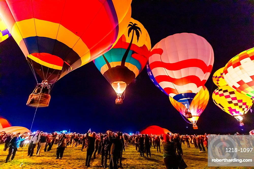 Dawn patrol at the Fiesta Hot Air Balloon Festival, Albuquerque, New Mexico, United States of America, North America