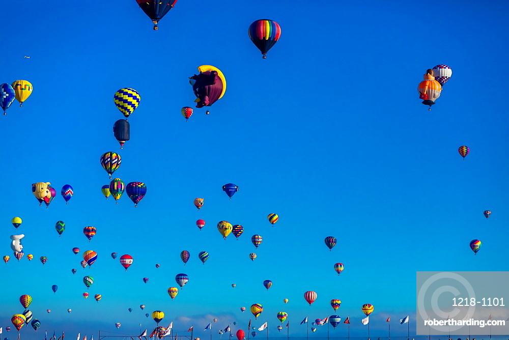 Fiesta Hot Air Balloon Festival, Albuquerque, New Mexico, United States of America, North America