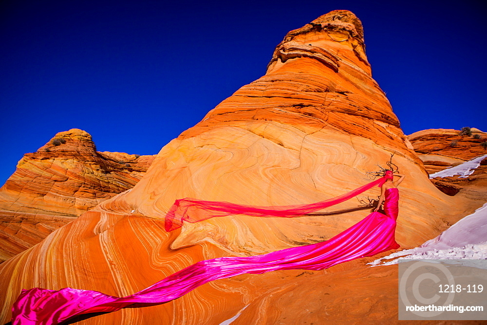Couture fashion, The Wave, Coyote Butte, Utah Wilderness, United States of America, North America