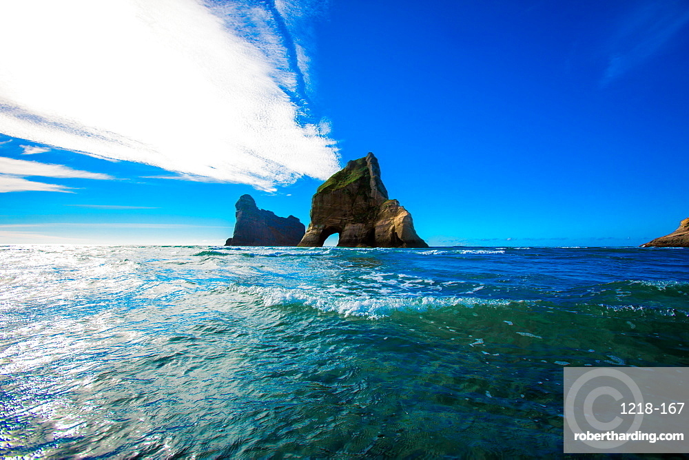 Rock Formations in Golden Bay, Tasman Region, South Island, New Zealand, Pacific