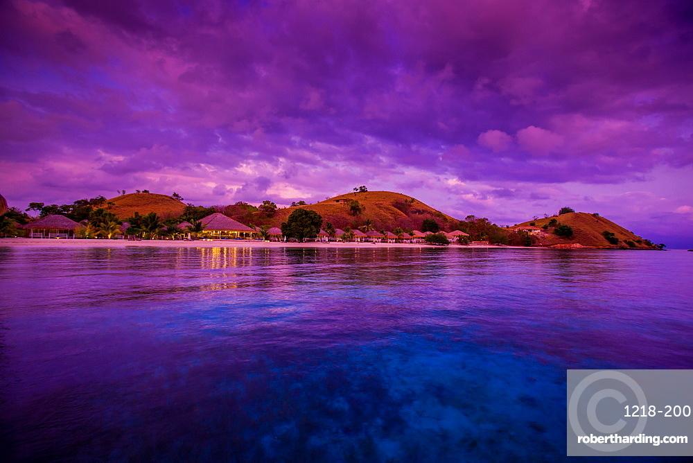 Sunrise over Hotel Seraya, Flores Island, Indonesia, Southeast Asia, Asia