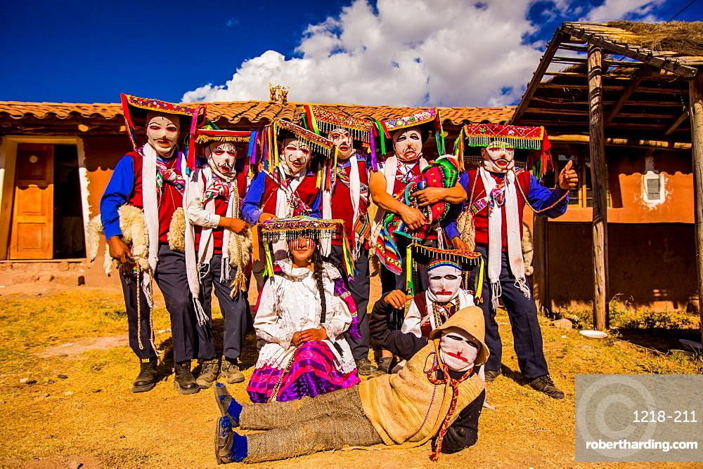 Traditional Ukuku Dancers, Cusco, Peru, South America