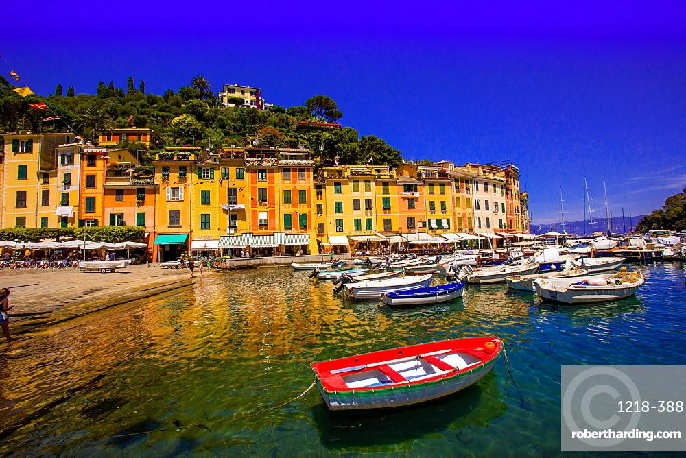 The Italian fishing village of Portofino, Liguria, Italy, Europe
