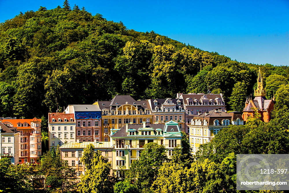 The countryside of the West Bohemian Spa triangle outside of Karlovy Vary, Bohemia, Czech Republic, Europe