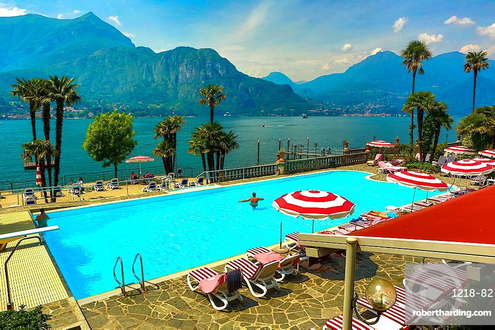 Poolat Hotel Villa Serbelloni, Bellagio, Lake Como, Lombardy, Italy, Europe