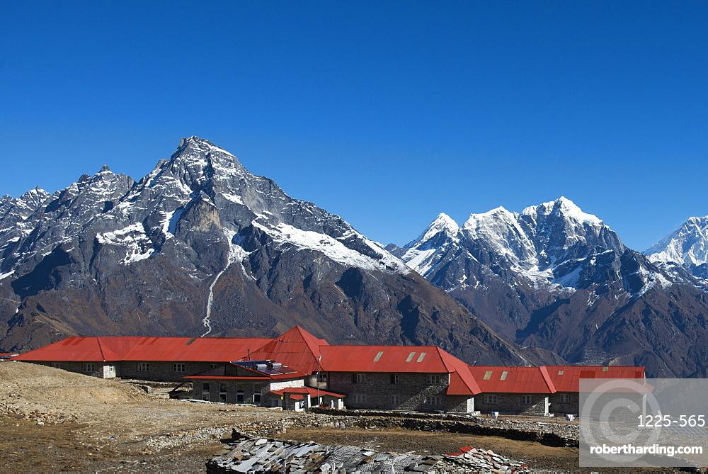 A lodge at Kongde in Everest region, Khumbu Region, Himalayas, Nepal, Asia