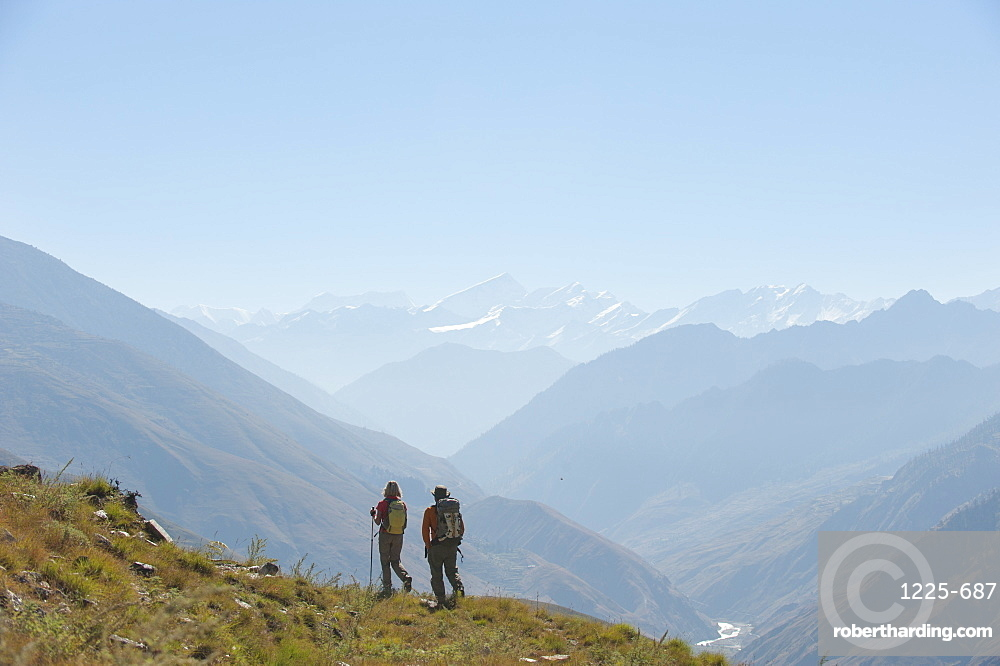 Trekking in the Juphal valley in the remote Dolpa region, Himalayas, Nepal, Asia