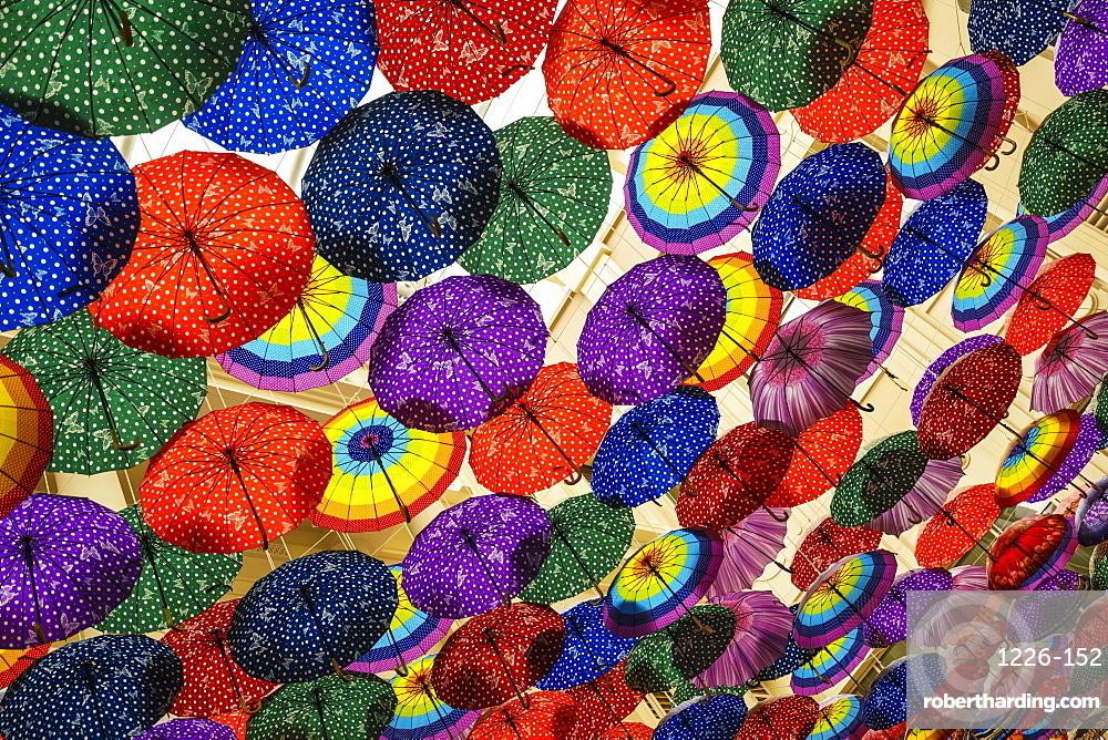 Umbrella display in the Dubai Mall, Dubai, United Arab Emirates, Middle East