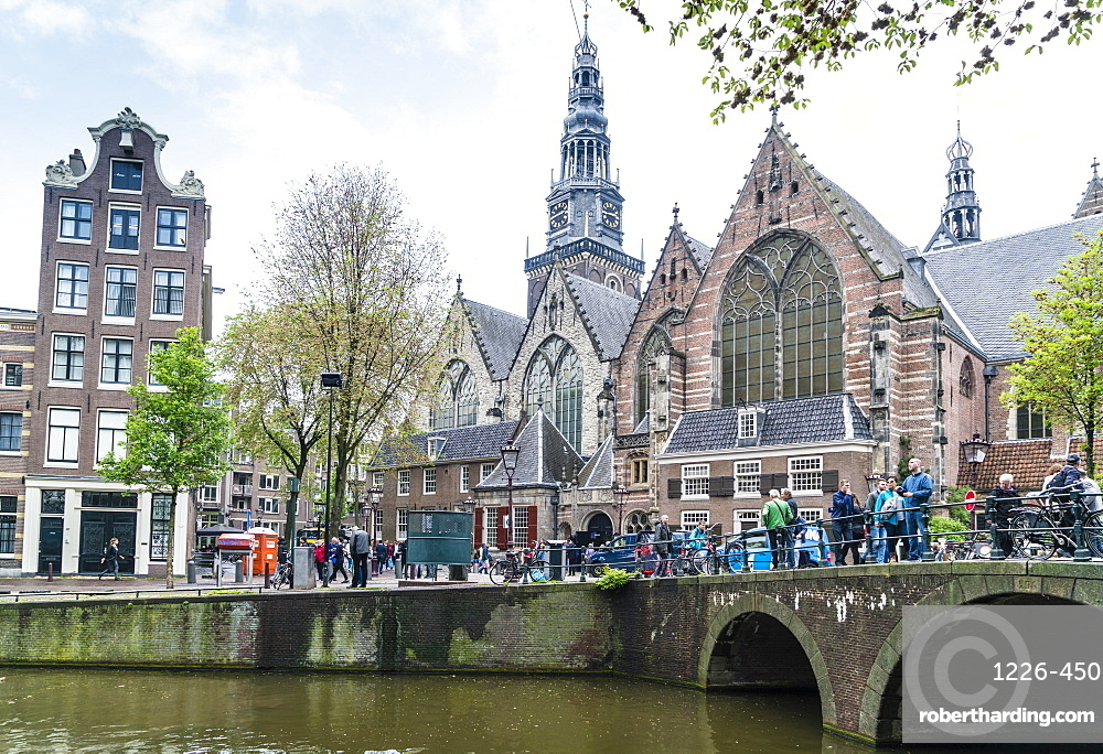 Oude Kerk, 13th century church and the oldest in Amsterdam, Netherlands, Europe