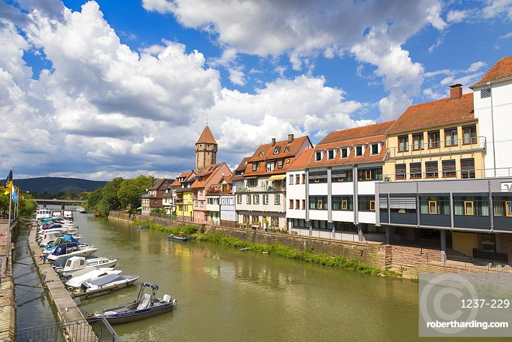 Wertheim, River Tauber, Baden-Wurttemberg, Germany, Europe