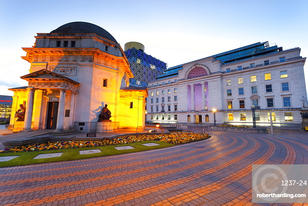 Centenary Square, Hall of Memory, Baskerville House, the New Library, Birmingham, England, United Kingdom, Europe