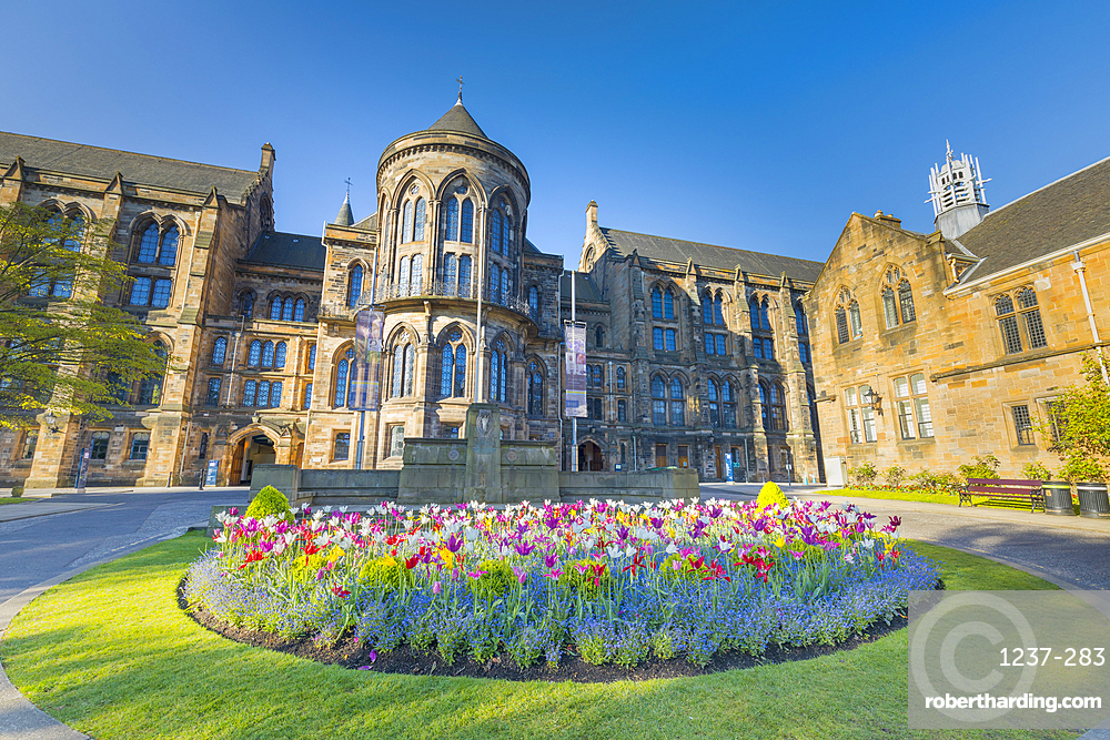 Glasgow University, entrance to visitor centre, Glasgow, Scotland, United Kingdom, Europe