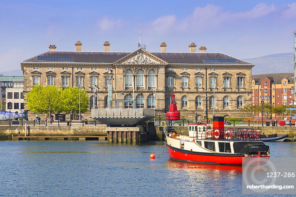 Customs House, River Lagan, Belfast, Ulster, Northern Ireland, United Kingdom, Europe