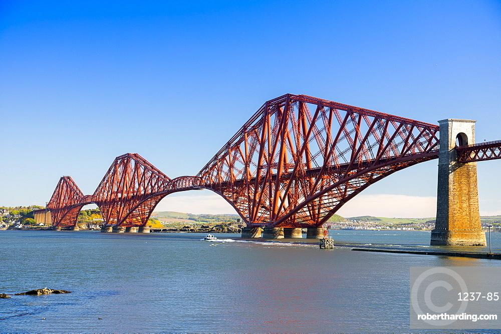 Forth Railway Bridge, UNESCO World Heritage Site, Lothian, Scotland, United Kingdom, Europe