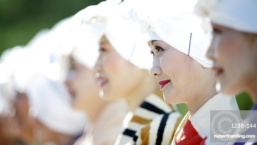 Katsura ladies, Jidai festival, Kyoto, Japan, Asia