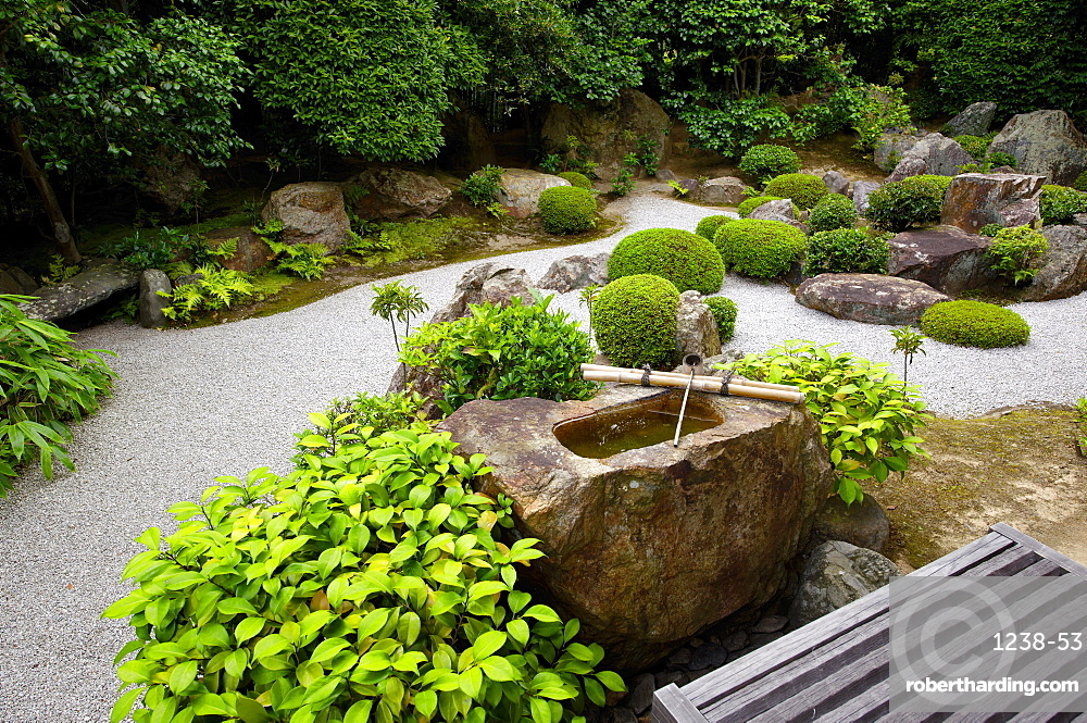 Taizo-in temple Zen garden, Kyoto, Japan, Asia