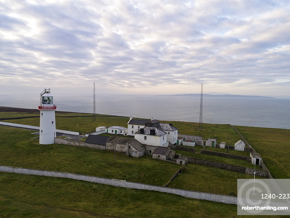 Loop Head, County Clare, Munster, Republic of Ireland, Europe (Drone)