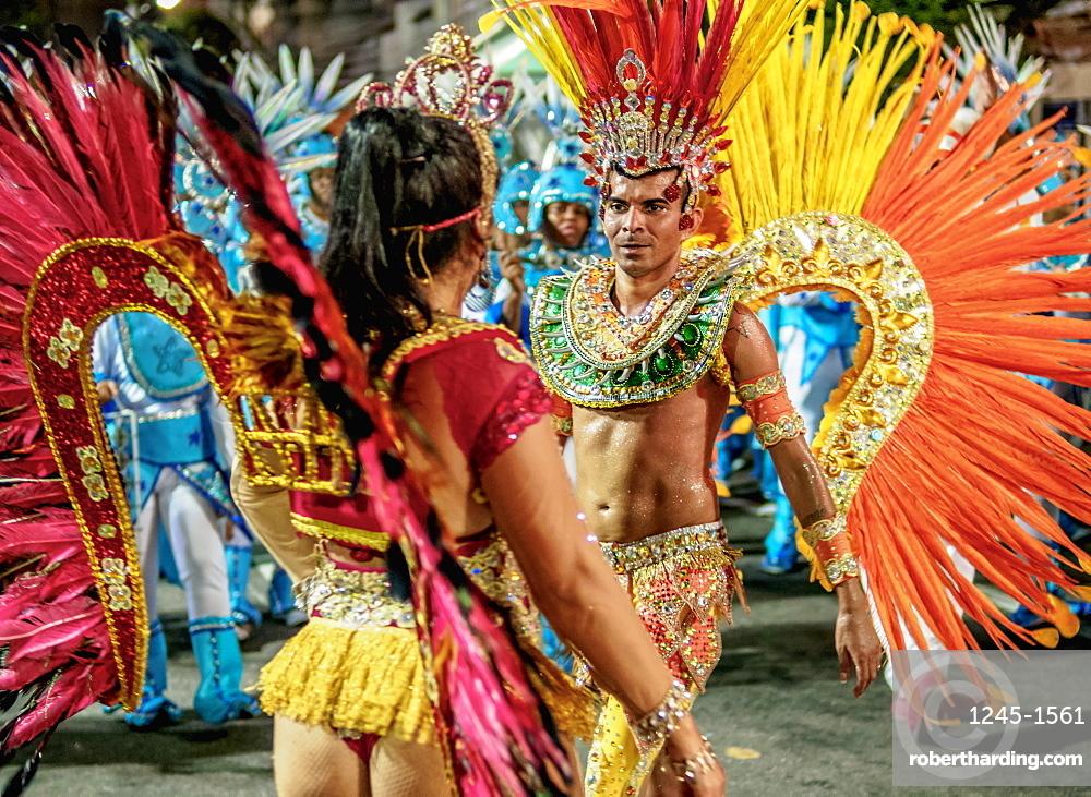 Samba Dancers at the Carnival Parade in Niteroi, State of Rio de Janeiro, Brazil, South America