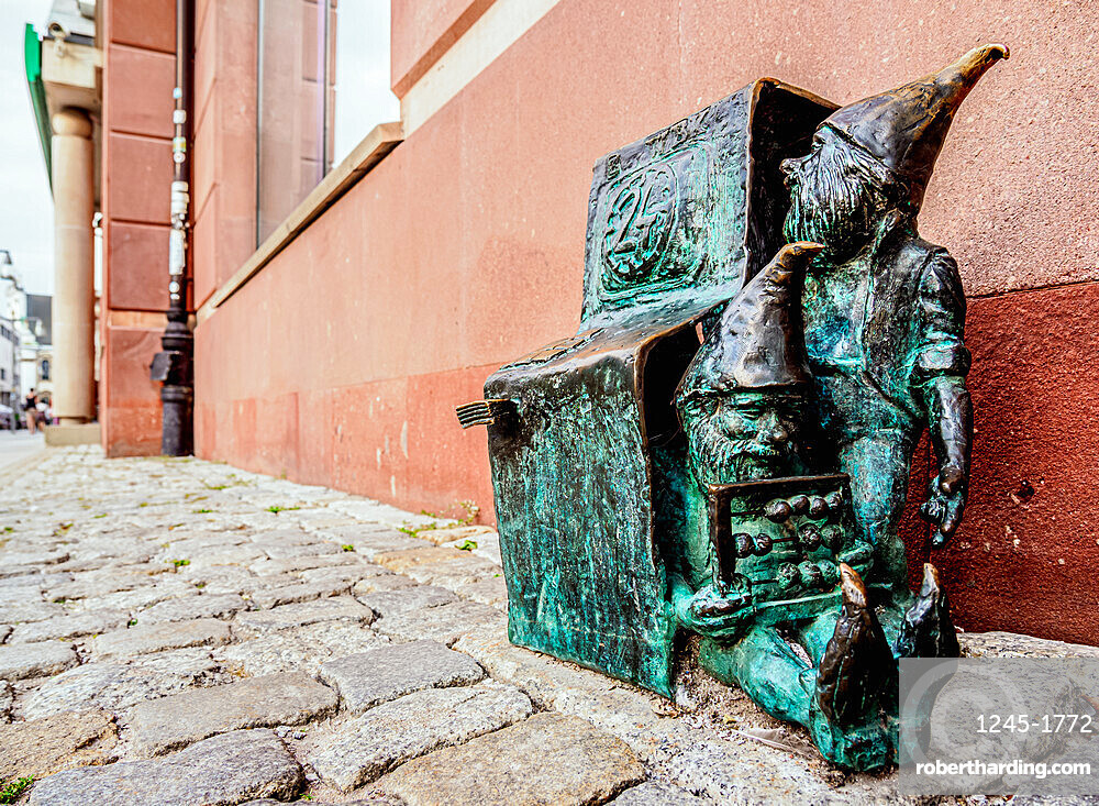 Dwarf Sculpture at the Old Town, Wroclaw, Lower Silesian Voivodeship, Poland
