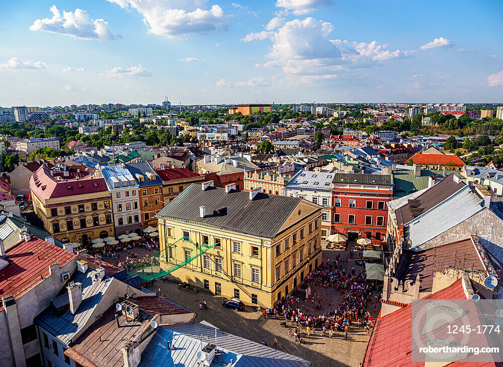 Old Town Market Square, elevated view, Lublin, Lublin Voivodeship, Poland