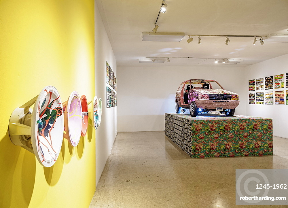 National Gallery of Jamaica, interior, exhibition about Jamaican music, Downtown, Kingston, Kingston Parish, Jamaica