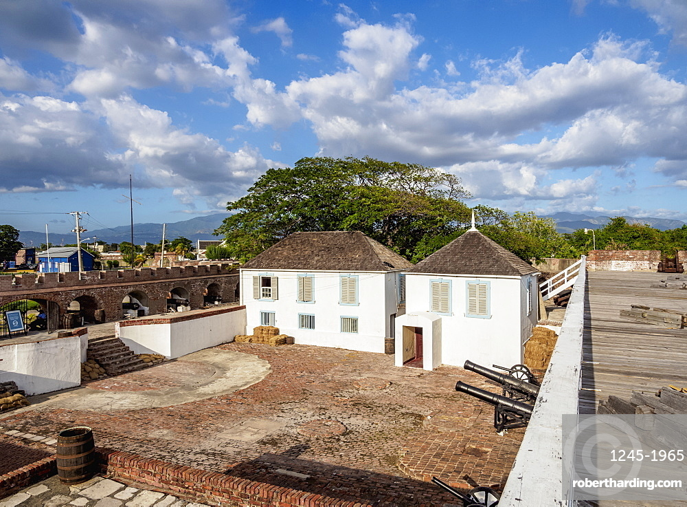 Fort Charles, elevated view, Port Royal, Kingston Parish, Jamaica, West Indies, Caribbean, Central America