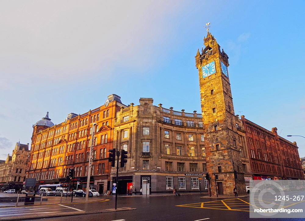 Tolbooth Steeple at Glasgow Cross, Glasgow, Scotland, United Kingdom, Europe