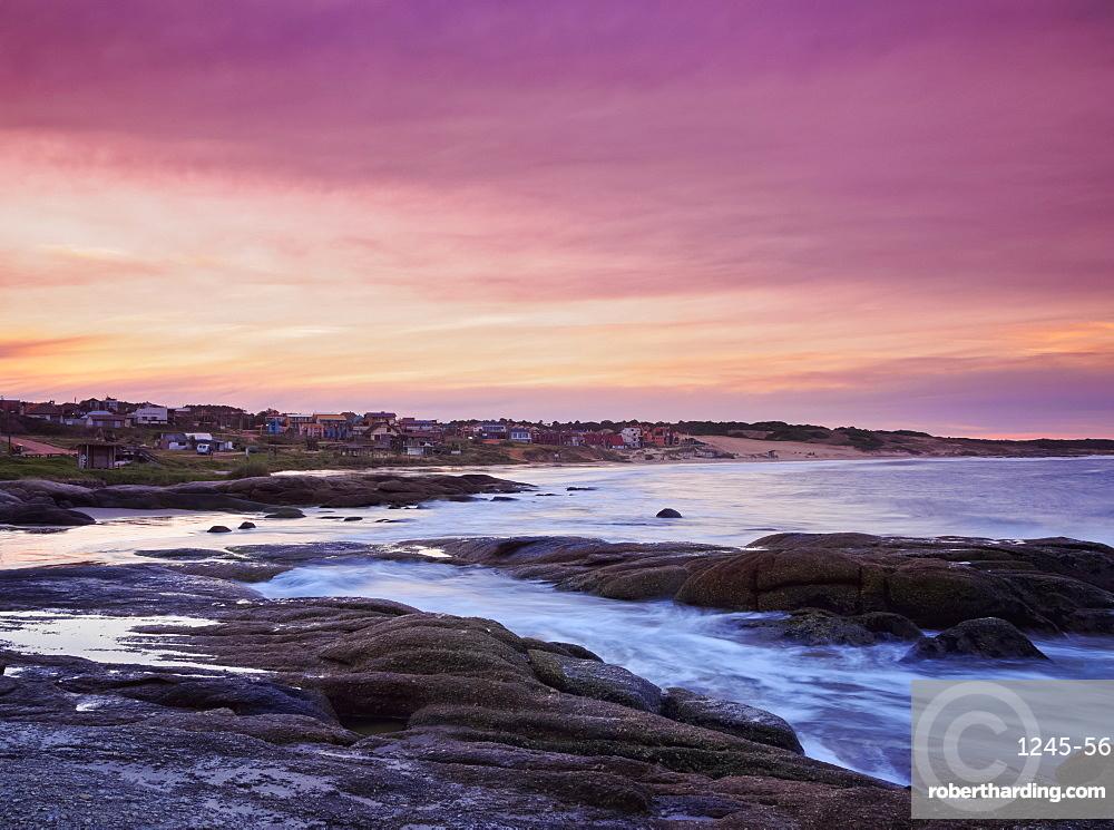 Sunset over Punta del Diablo, Rocha Department, Uruguay, South America