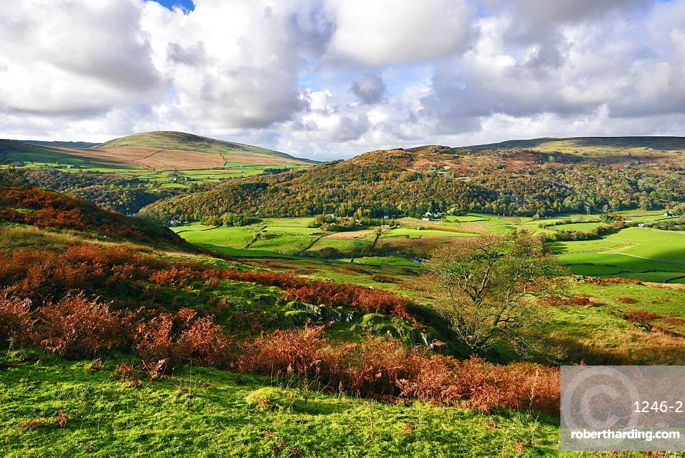 An autumn view of the scenic Duddon Valley, Lake District National Park, Cumbria, England, United Kingdom, Europe