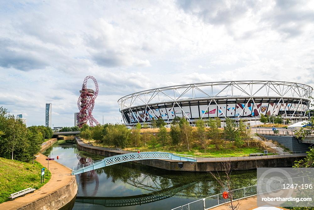 The London Stadium and Orbitz at Queen Elizabeth Park, Stratford, London, England, United Kingdom, Europe
