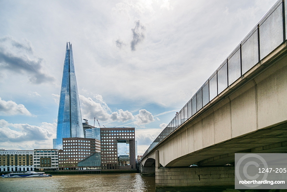 The Shard, London Bridge and The River Thames, London, England, United Kingdom, Europe