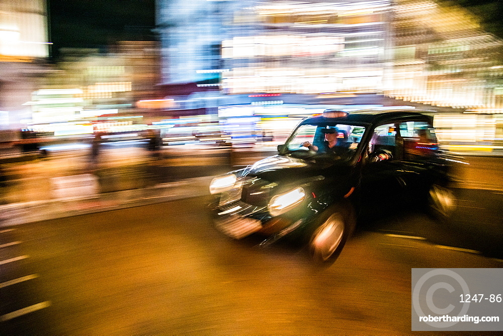 Black cab, London, England, United Kingdom, Europe