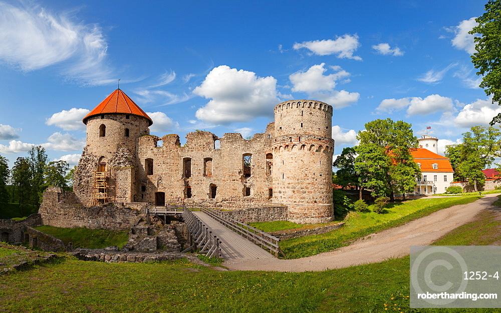 Ruins of old castle in Cesis, Latvia, Europe