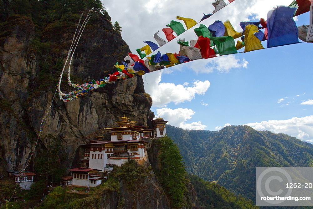 The Tiger's Nest Fortress of Paro, Bhutan, Himalayas, Asia