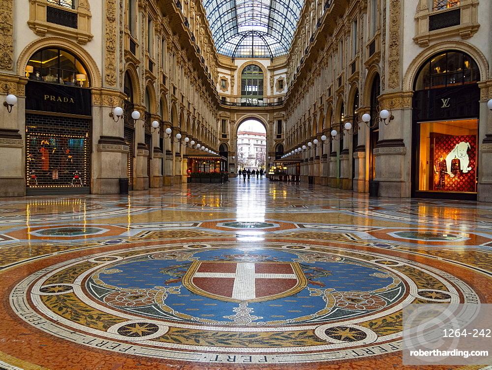 Gallery Vittorio Emanuele, Milan, Lombardy, Italy, Europe