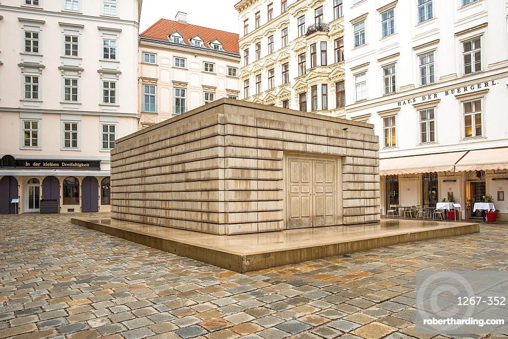 Judenplatz Holocaust Memorial (The Nameless Library), in the Judenplatz square, Vienna, Austria, Europe