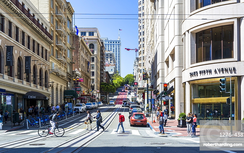 Powell Street, San Francisco, California, United States of America, North America