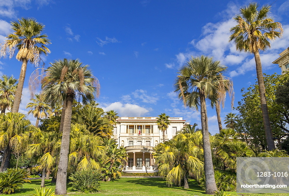 Massena Museum at Promenade des Anglais, Nice, Cote d'Azur, French Riviera, France, Europe